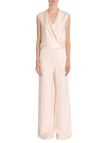 Lanvin V-Neck Wrapped Top Jumpsuit