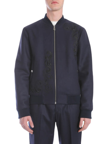 Versace Collection Embroidered Bomber Jacket