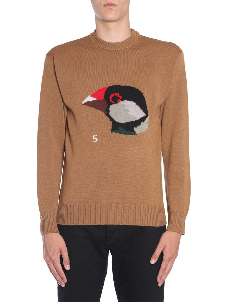 Lanvin Bird Print Knitted Sweater