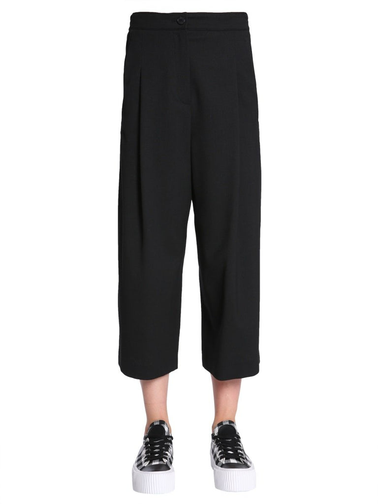MCQ Alexander McQueen Cropped Wide-Leg Trousers