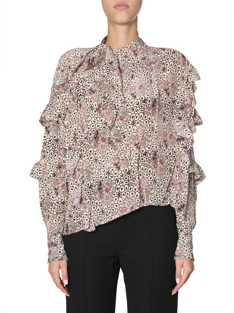 Isabel Marant Asymmetric Layered Blouse