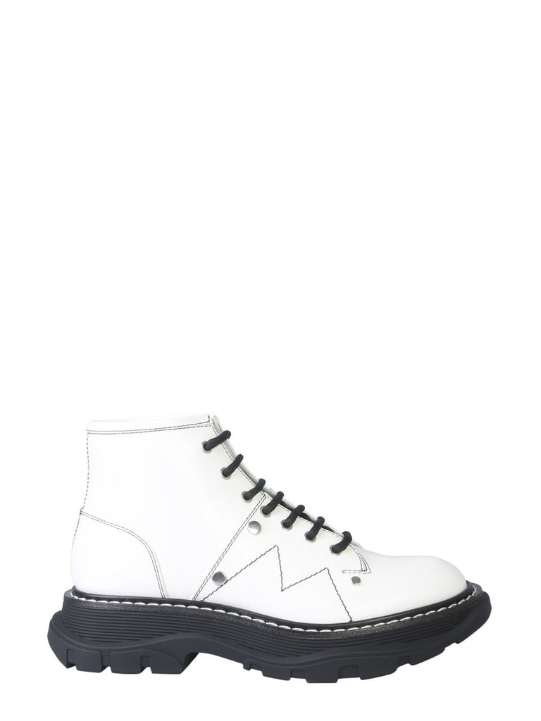 Alexander McQueen Lace Up Ankle Boots
