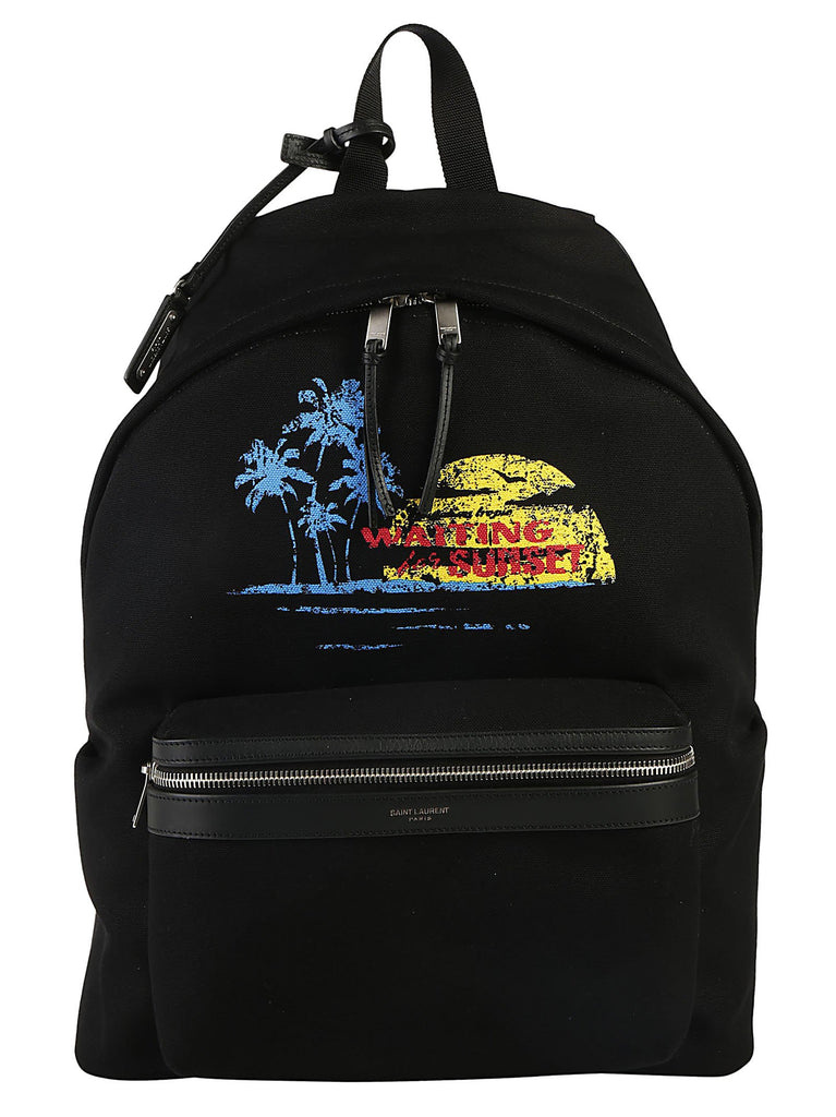 Saint Laurent Waiting For Sunset City Backpack