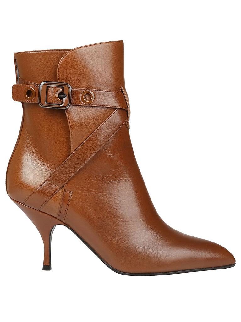 Bottega Veneta Buckle Strap Pointed Boots