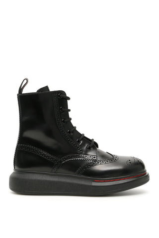 Alexander McQueen Hybrid Lace Up Ankle Boots