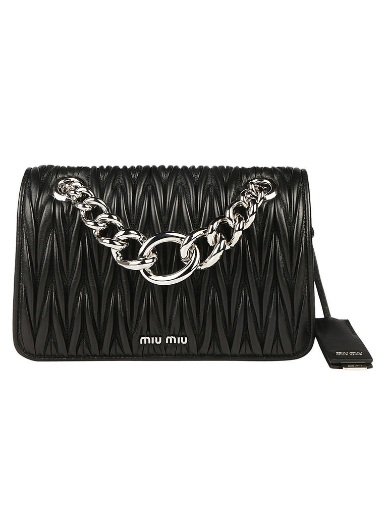 Miu Miu Matellassè Chain Detail Shoulder Bag