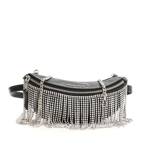 Miu Miu Crystal Fringed Belt Bag