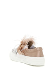 Miu Miu Feather Embellished Sneakers