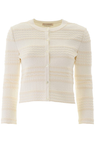 Alexander McQueen Cropped Button-Up Cardigan