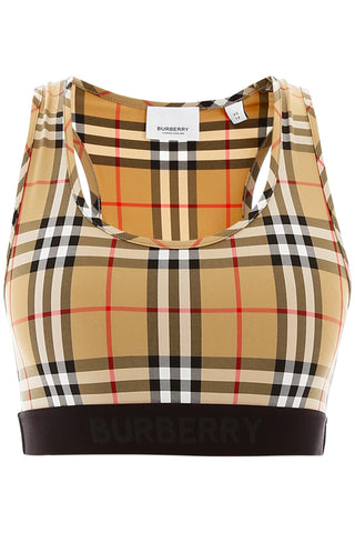 Burberry Logo Detail Vintage Check Crop Top