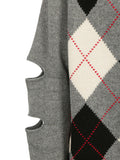 Burberry Patterned Cut-Out Detail Jumper