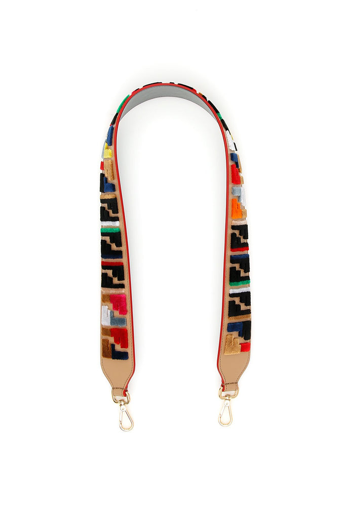 Fendi Logo Embellished Shoulder Strap