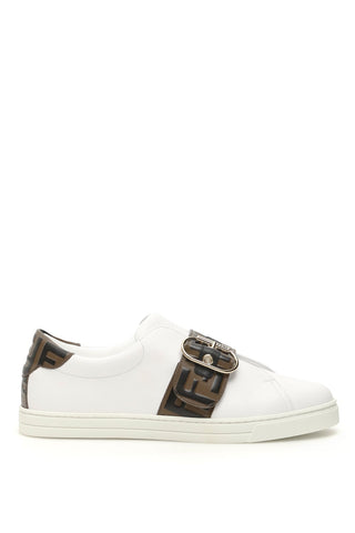 Fendi FF Buckled Low Top Sneakers