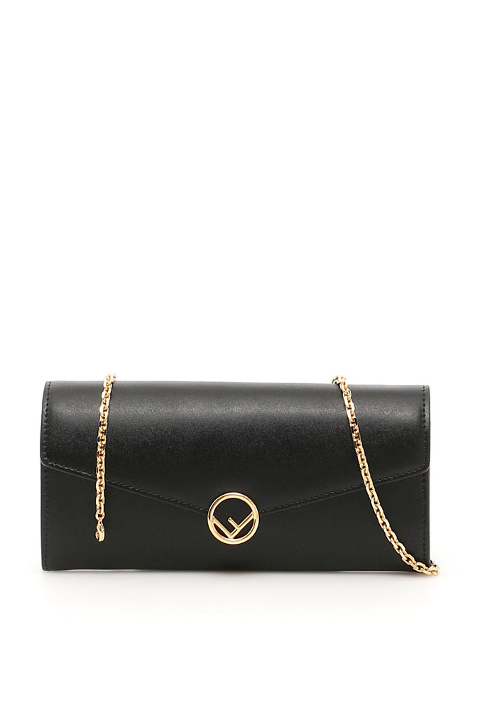 Fendi Logo Chain Strap Wallet
