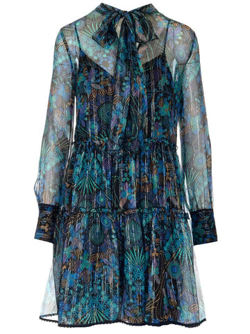 See By Chloé Printed Sheer Dress