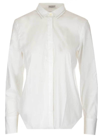 Brunello Cucinelli Classic High Collar Shirt