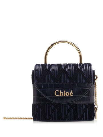Chloé Aby Lock Embroidered Crossbody Bag