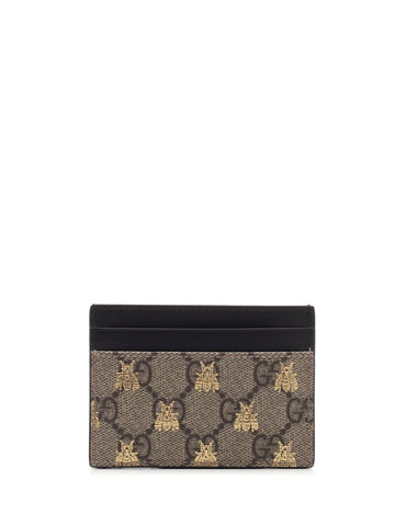 Gucci GG Supreme Bee Printed Cardholder