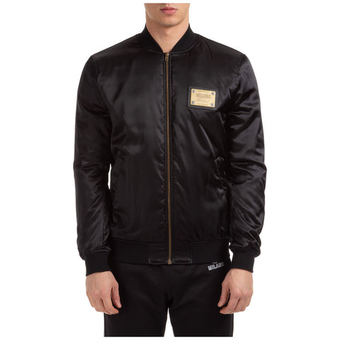 Moschino Logo Patch Bomber Jacket