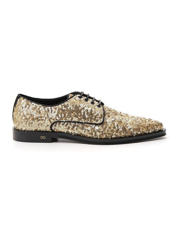 Dolce & Gabbana Sequinned Lace-Up Shoes
