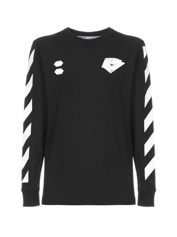 Off-White Diag Hand Card Long Sleeve T-Shirt