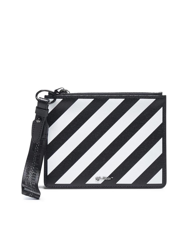 Off-White Diagonal Stripe Logo Clutch Bag