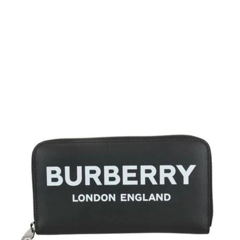 Burberry Logo Print Zipped Wallet