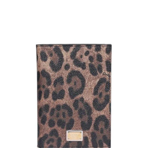 Dolce & Gabbana Animalier Printed Passport Holder