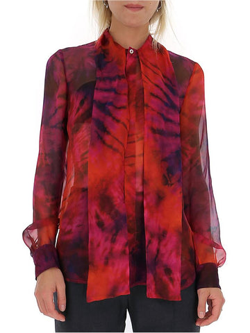 Dsquared2 Tie Dye Effect Bow Blouse
