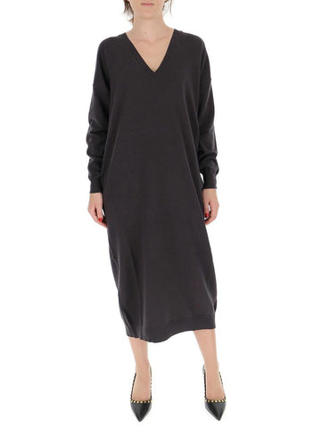 Dsquared2 V-Neck Sweater Dress