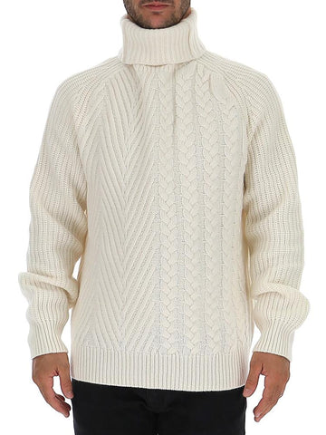 Haider Ackermann Cable Knit Turtleneck Sweater