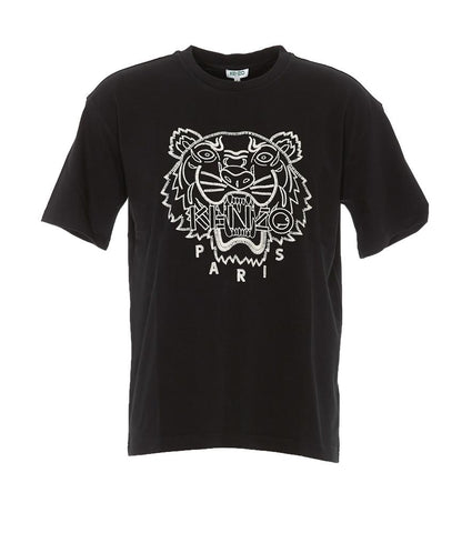 Kenzo Tiger Logo Embroidered T-Shirt