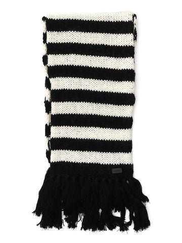 Saint Laurent Fringe Trim Striped Scarf