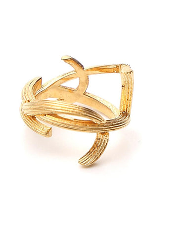 Saint Laurent Interlaced Monogram Ring
