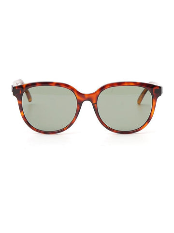 Saint Laurent Eyewear Round Frames Tortoiseshell Effect Sunglasses