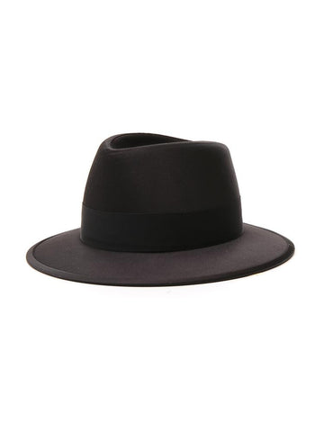 Saint Laurent Classic Satin Fedora Hat