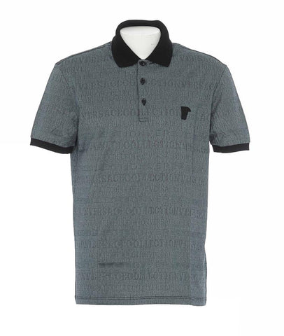 Versace Collection All Over Logo Classic Polo Shirt