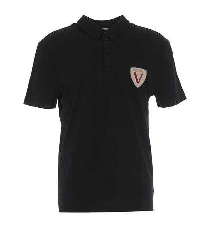 Versace Collection Logo Patch Polo T-Shirt