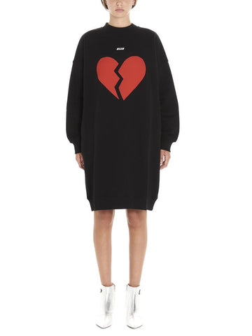 MSGM Broken Heart Dress