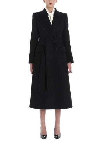 Dolce & Gabbana Double Breasted Belted Midi Coat