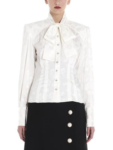 Dolce & Gabbana Bow Detailed Buttoned Blouse