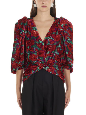 Magda Butrym Floral Ruched Top