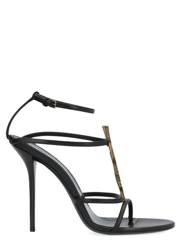Saint Laurent Cassandra Logo Sandals