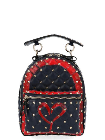 Valentino Garavani Rockstud Spike Heart Backpack