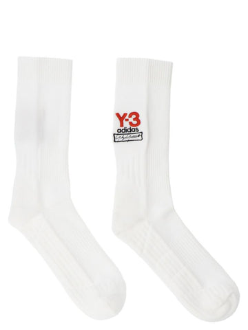Y-3 Logo Embroidered Socks
