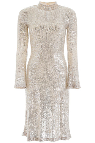 L'Autre Chose Embellished Sequin Dress