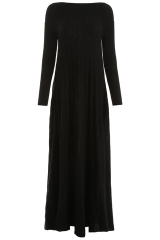 L'Autre Chose Pleated Knitted Maxi Dress