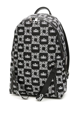 Dolce & Gabbana Monogram Printed Backpack