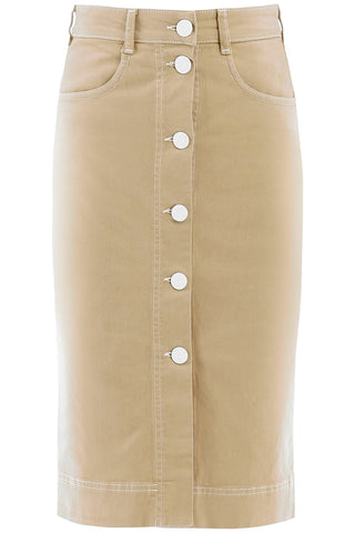 See By Chloé Button-Up Pencil Skirt