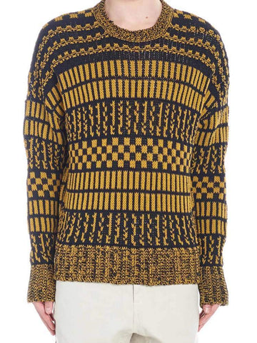 Ami Paris Jacquard Patteren Sweater